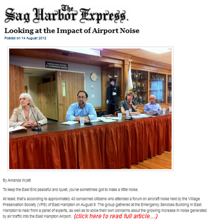 Sag Harbor Express Article